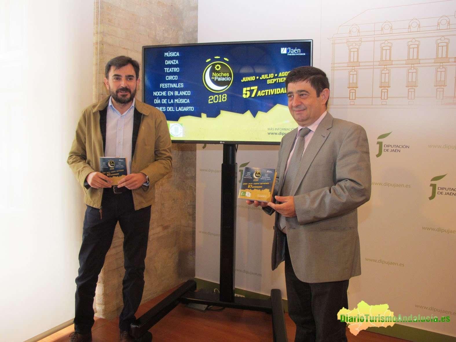 Juan Ángel Pérez y Francisco Reyes han presentado la tercera edición de Noches de Palacio.