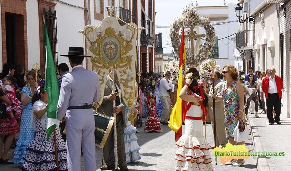Las cruces de mayo tienen gran tradición en las comarcas de la Sierra, del Andévalo y de El Condado de Huelva.