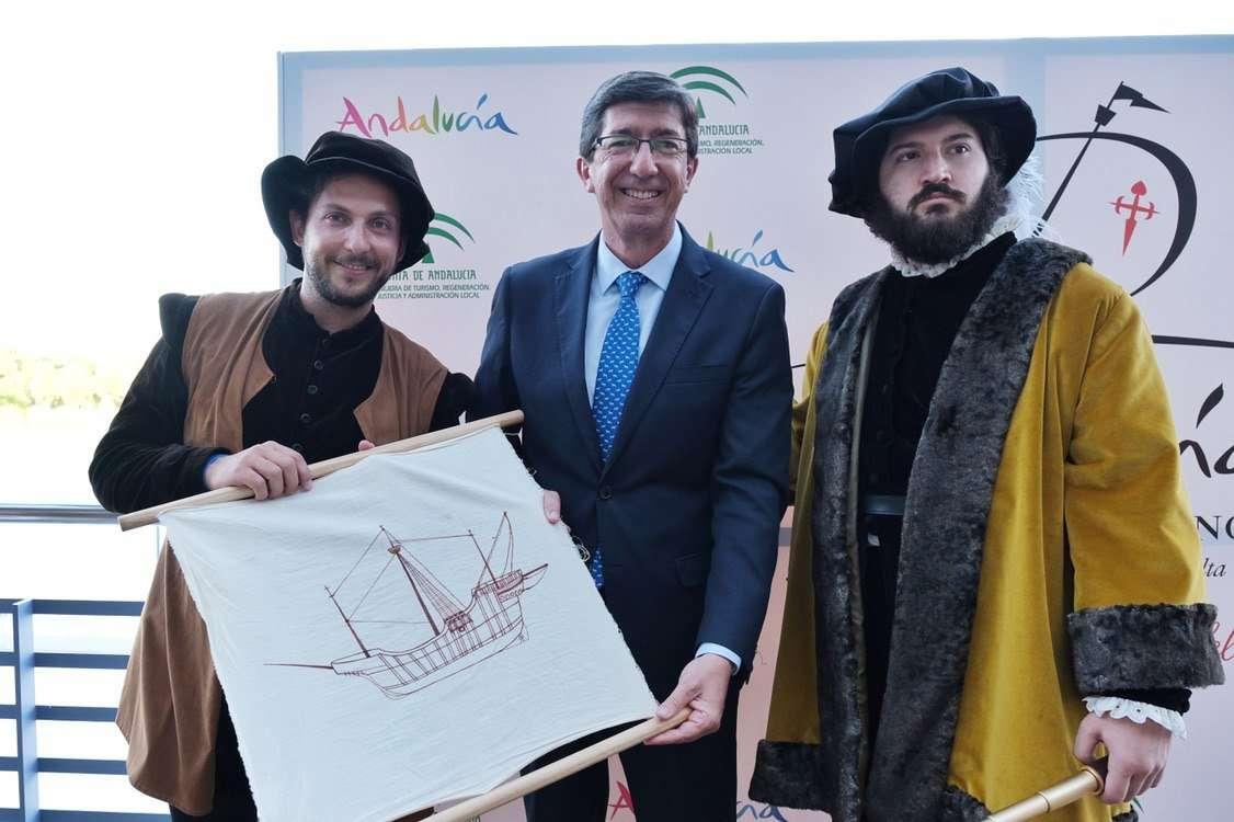 El programa incluye 130 actividades que arrancarán el 20 de septiembre con una recreación del embarque de los marineros en Sanlúcar de Barrameda.