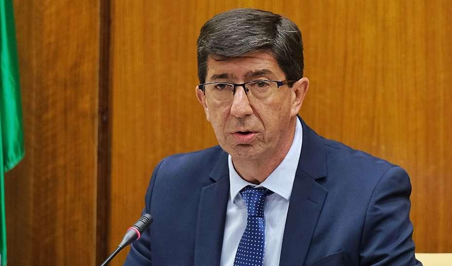 El vicepresidente de la Junta expuso los presupuestos en comisión parlamentaria.